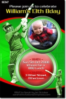 SE347 - Adult Birthday - Cricket - Mens Birthday Invitations - Birthday Party Invitations ...