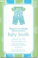 SE361 - Baby Shower Boys overalls - no photos