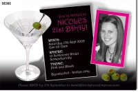 SE382 - Cocktail Martini Olives Invitation
