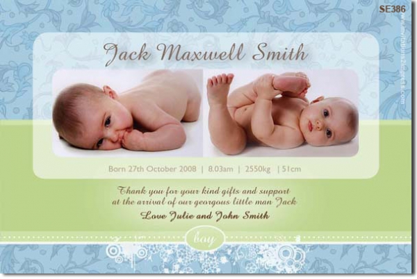 SE386 - birth announcement