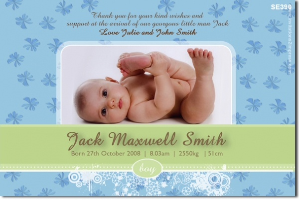 SE390 - birth announcement boy