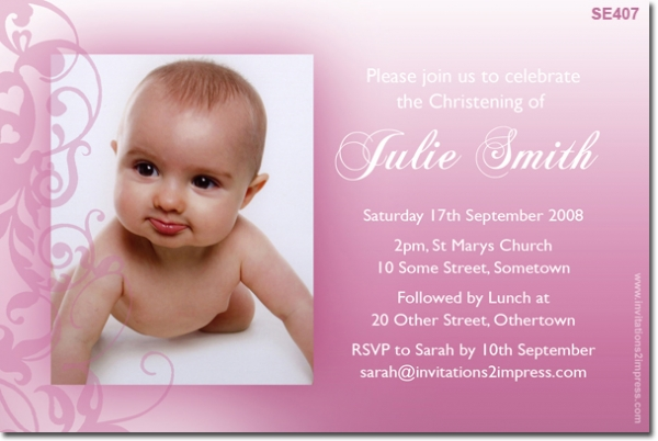 SE Christening Filagree Ladies Birthday Invitations - Birthday invitation and christening