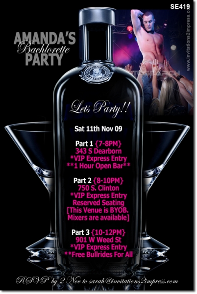 SE419 - Hens Party - ABSOLUT Vodka Inviation