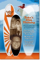SE431 - Adult Surfing Birthday Invitation